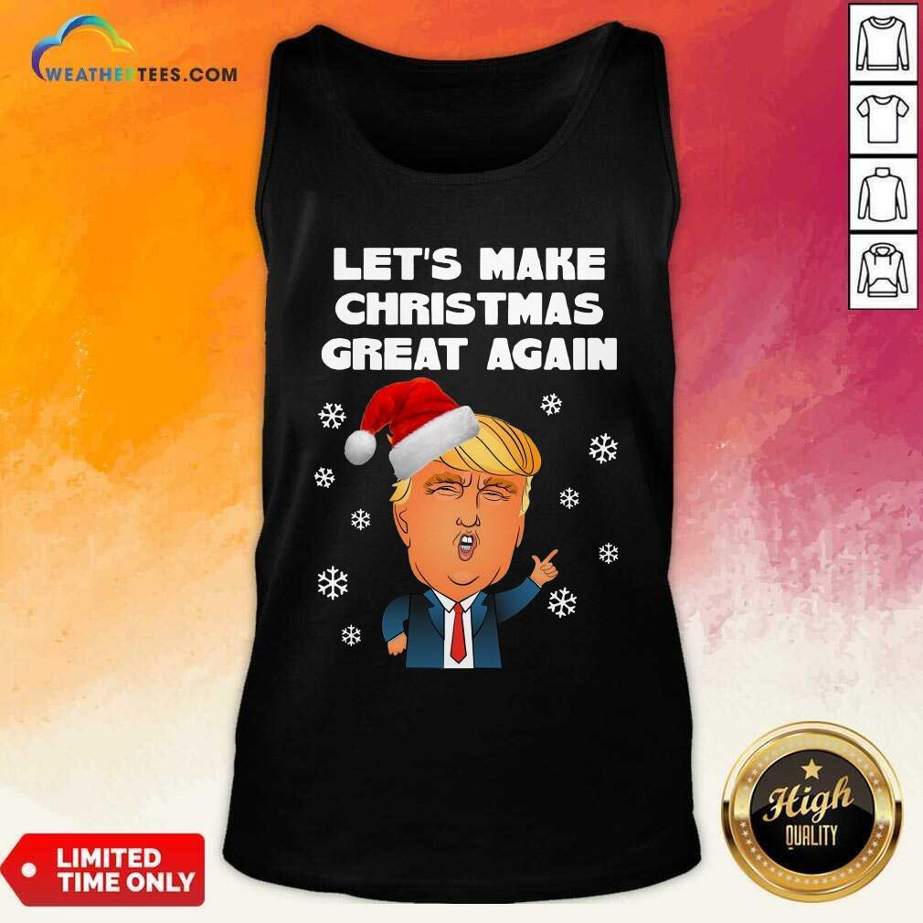 Santa Donald Trump Let's Make Christmas Great Again Tank Top - Design By Weathertees.com