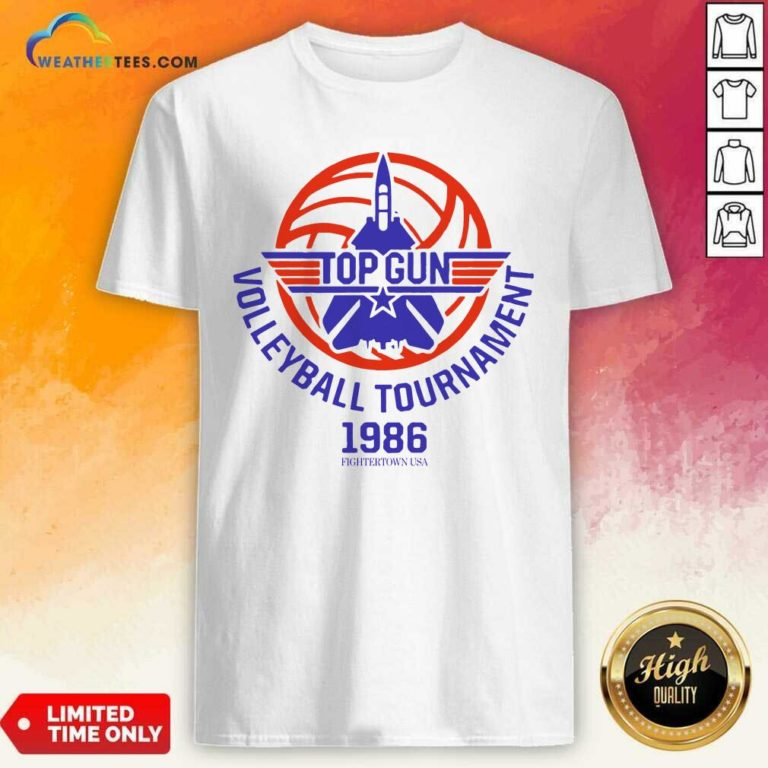 Gun Volleyball Tournament 1986 Fightertown USA Shirt - Design By Weathertees.com