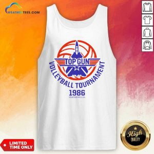 Gun Volleyball Tournament 1986 Fightertown USA Tank Top - Design By Weathertees.com