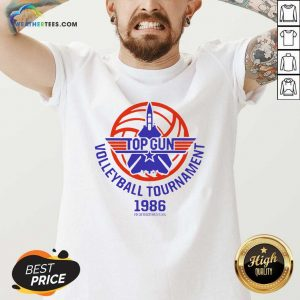 Gun Volleyball Tournament 1986 Fightertown USA V-neck - Design By Weathertees.com