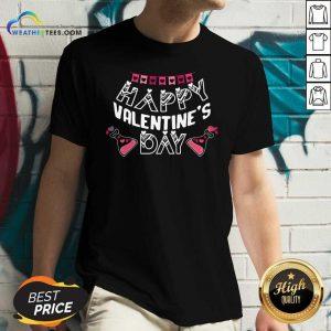 Happy Valentines Day V-neck - Design By Weathertees.com