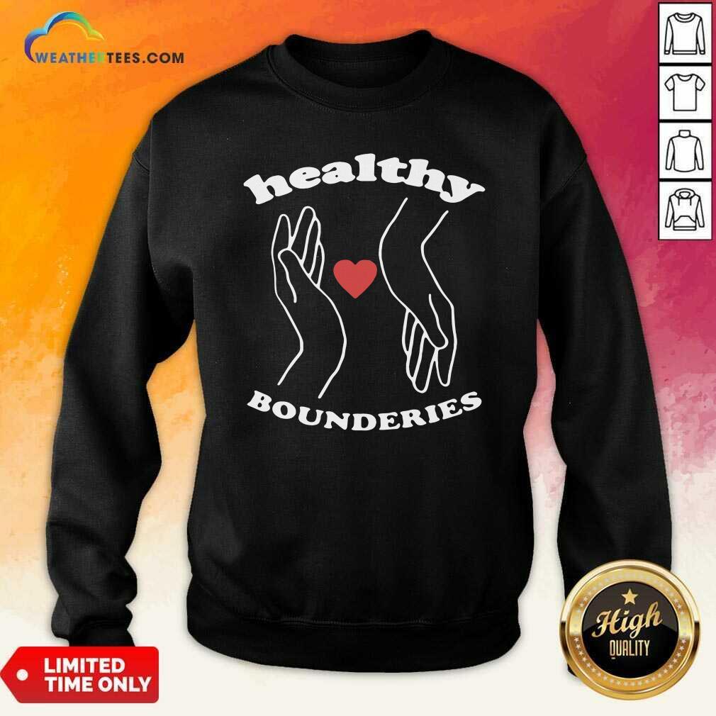 Healthy Boundaries Hand Heart Sweatshirt - Design By Weathertees.com