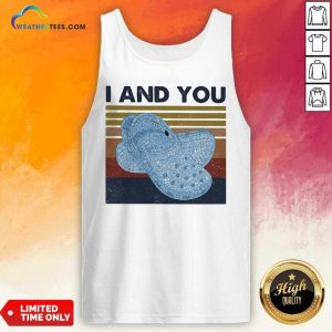 I And You Cross Vintage Retro Tank Top - Design By Weathertees.com