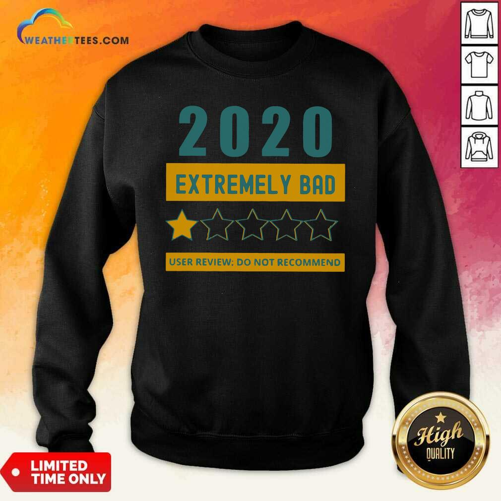 2020 Extremely Bad One Star User Review Do Not Recommend Sweatshirt - Design By Weathertees.com