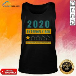 2020 Extremely Bad One Star User Review Do Not Recommend Tank Top - Design By Weathertees.com