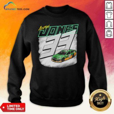 Aaron Jones Packers 33 Car Sweatshirt - Design By Weathertees.com