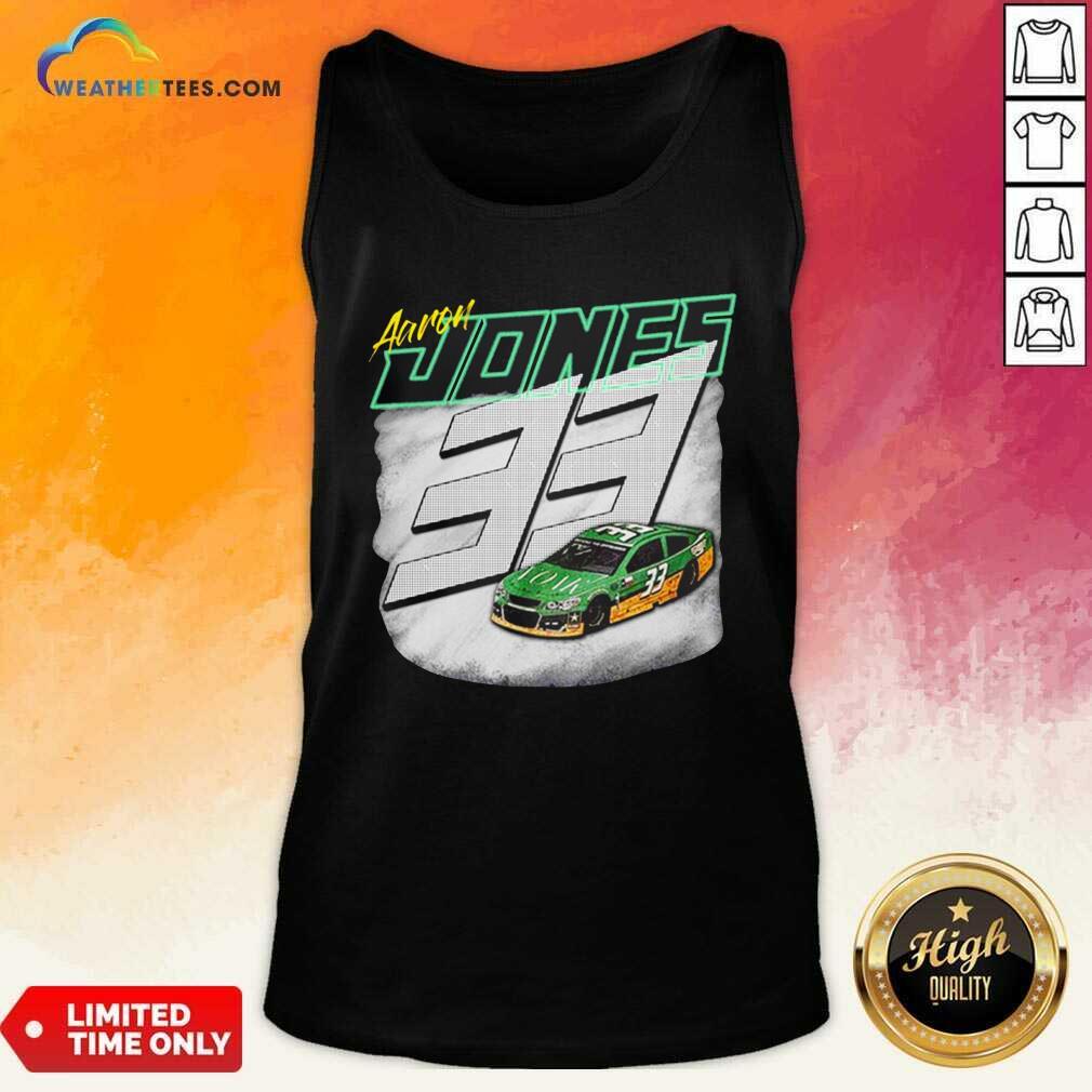 Aaron Jones Packers 33 Car Tank Top - Design By Weathertees.com