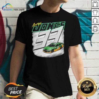 Aaron Jones Packers 33 Car V-neck - Design By Weathertees.com