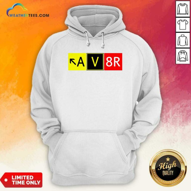 Aviation Pilot AV8R Taxiway Sign Graphic Hoodie - Design By Weathertees.com
