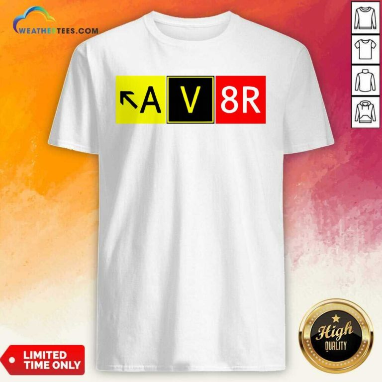 Aviation Pilot AV8R Taxiway Sign Graphic Shirt - Design By Weathertees.com