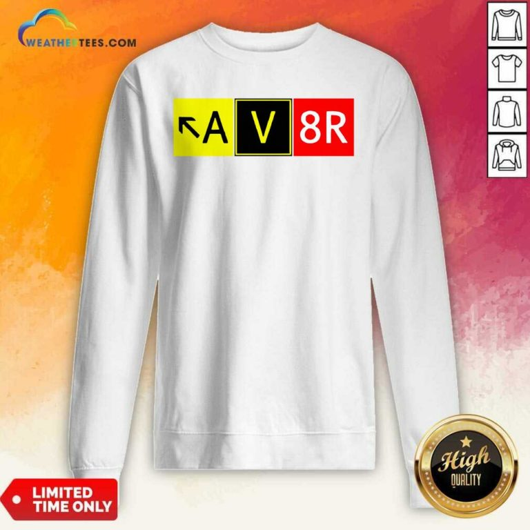 Aviation Pilot AV8R Taxiway Sign Graphic Sweatshirt - Design By Weathertees.com