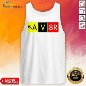 Aviation Pilot AV8R Taxiway Sign Graphic Tank Top - Design By Weathertees.com