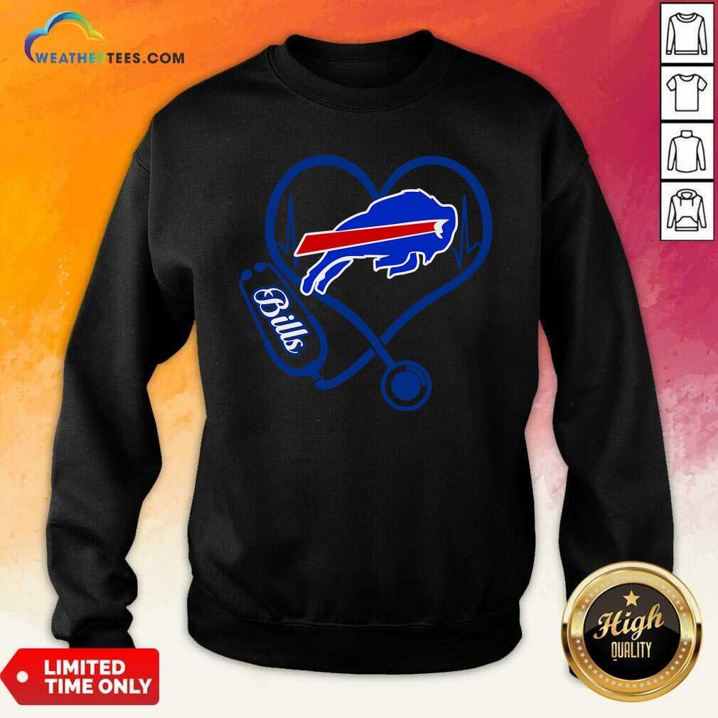 Buffalo Bills Heartbeat Sweatshirt - Design By Weathertees.com