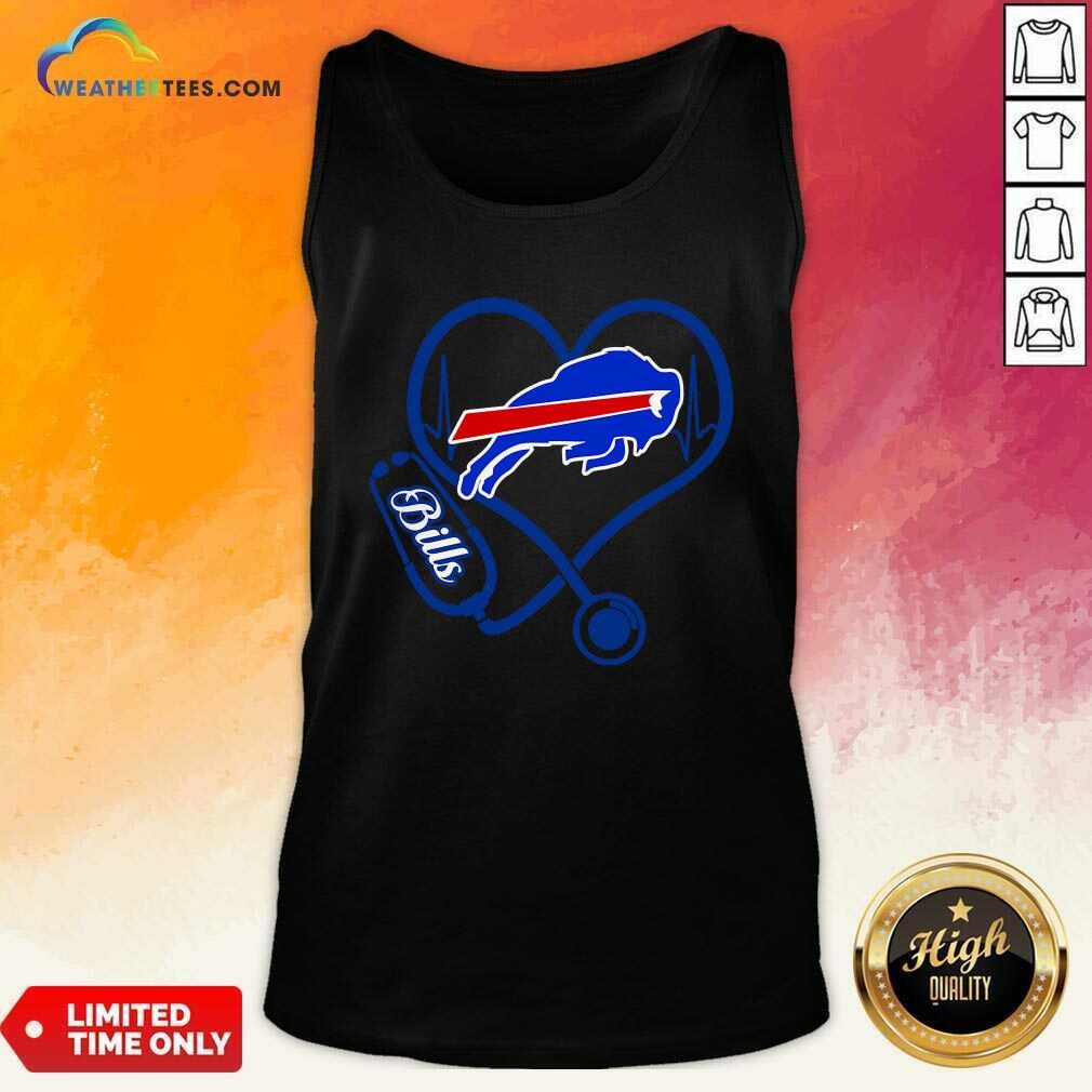 Buffalo Bills Heartbeat Tank Top - Design By Weathertees.com