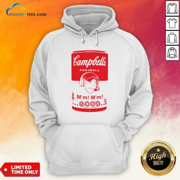 Campbells Football Soup Can Hoodie - Design By Weathertees.com
