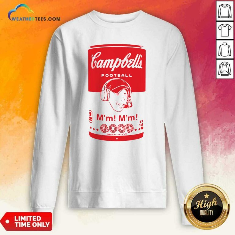 Campbells Football Soup Can Sweatshirt - Design By Weathertees.com