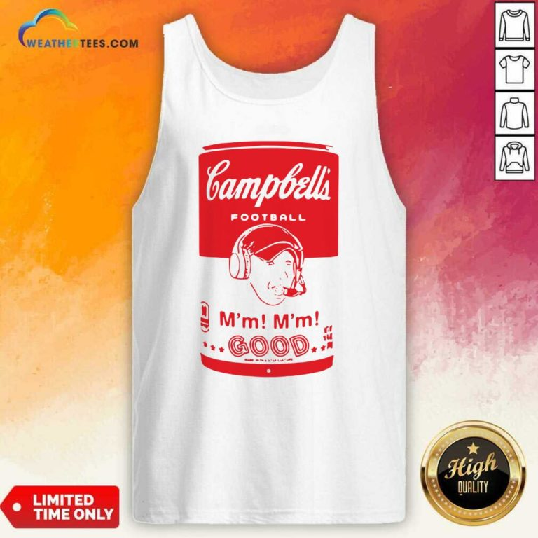Campbells Football Soup Can Tank Top - Design By Weathertees.com