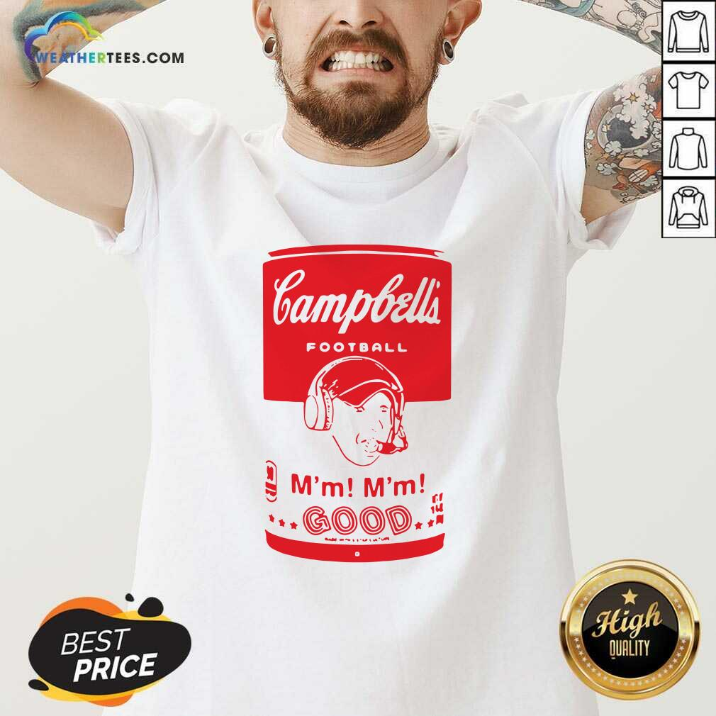 Campbells Football Soup Can V-neck - Design By Weathertees.com