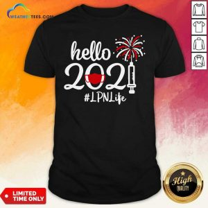 Hello 2021 LPN Life Face Mask Christmas Shirt - Design By Weathertees.com