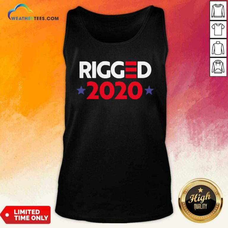 Rigged 2020 Election Voted Tank Top - Design By Weathertees.com