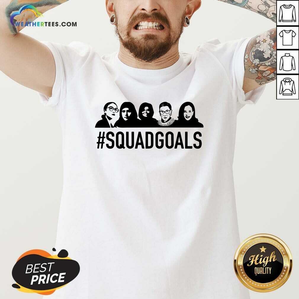 SQUAD GOALS Supreme Court Justices RBG V-neck - Design By Weathertees.com