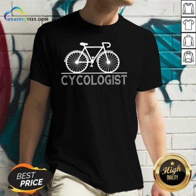 The Bicycle Cycologist V-neck - Design By Weathertees.com