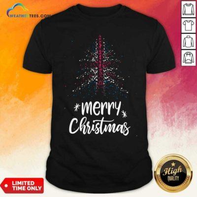 Tree England Flag Merry Christmas Shirt - Design By Weathertees.com