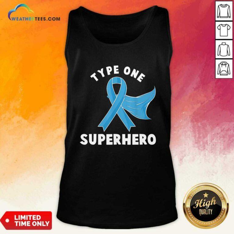 Type One Superhero Diabetes Awareness Diabetic Tank Top - Design By Weathertees.com