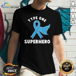 Type One Superhero Diabetes Awareness Diabetic V-neck - Design By Weathertees.com