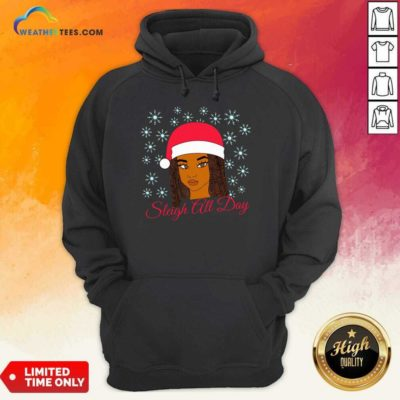 Christmas Melanin Sleigh All Day Hoodie - Design By Weathertees.com