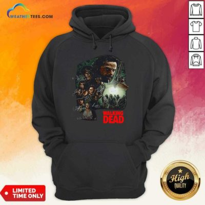 Waking The Dead Signatures Hoodie - Design By Weathertees.com