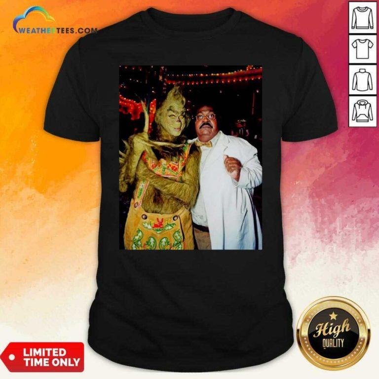Jim Carrey And Eddie Murphy Grinch Shirt - Design By Weathertees.com