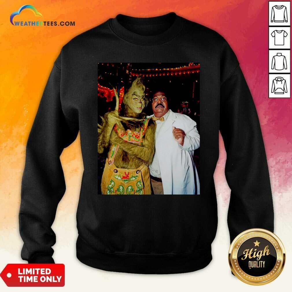Jim Carrey And Eddie Murphy Grinch Sweatshirt - Design By Weathertees.com
