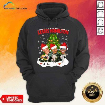 Lewis Hamilton Chibi Christmas Tree Hoodie - Design By Weathertees.com