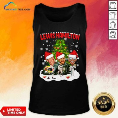 Lewis Hamilton Chibi Christmas Tree Tank Top - Design By Weathertees.com