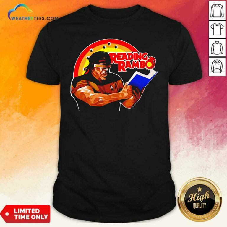Sylvester Stallone Reading Rambo Shirt - Design By Weathertees.com