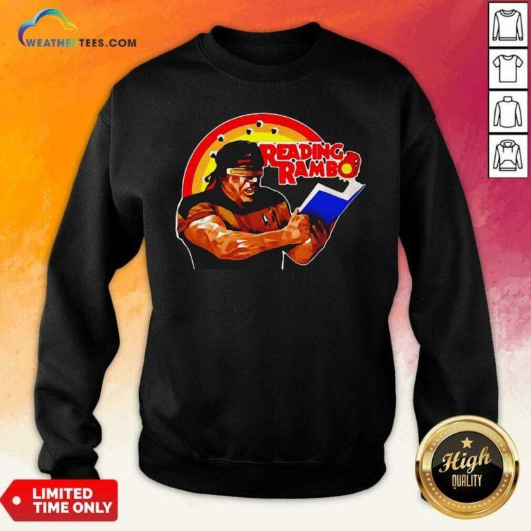 Sylvester Stallone Reading Rambo Sweatshirt - Design By Weathertees.com