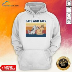Cats And Tats Tattoo Vintage Retro Hoodie - Design By Weathertees.com