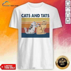 Cats And Tats Tattoo Vintage Retro Shirt - Design By Weathertees.com