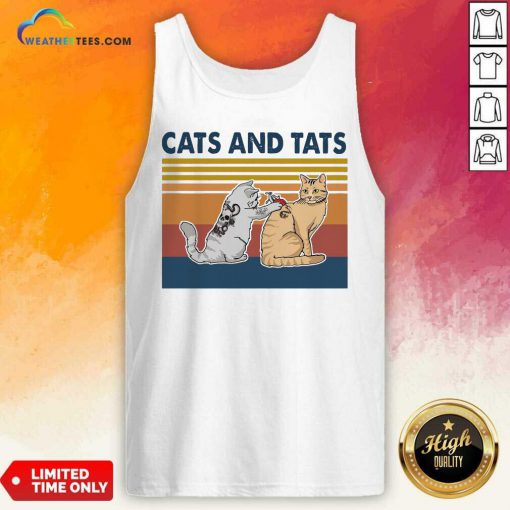 Cats And Tats Tattoo Vintage Retro Tank Top - Design By Weathertees.com