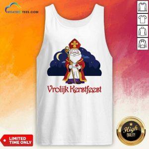 Dutch Vrolijk Kerstfeest Tank Top - Design By Weathertees.com
