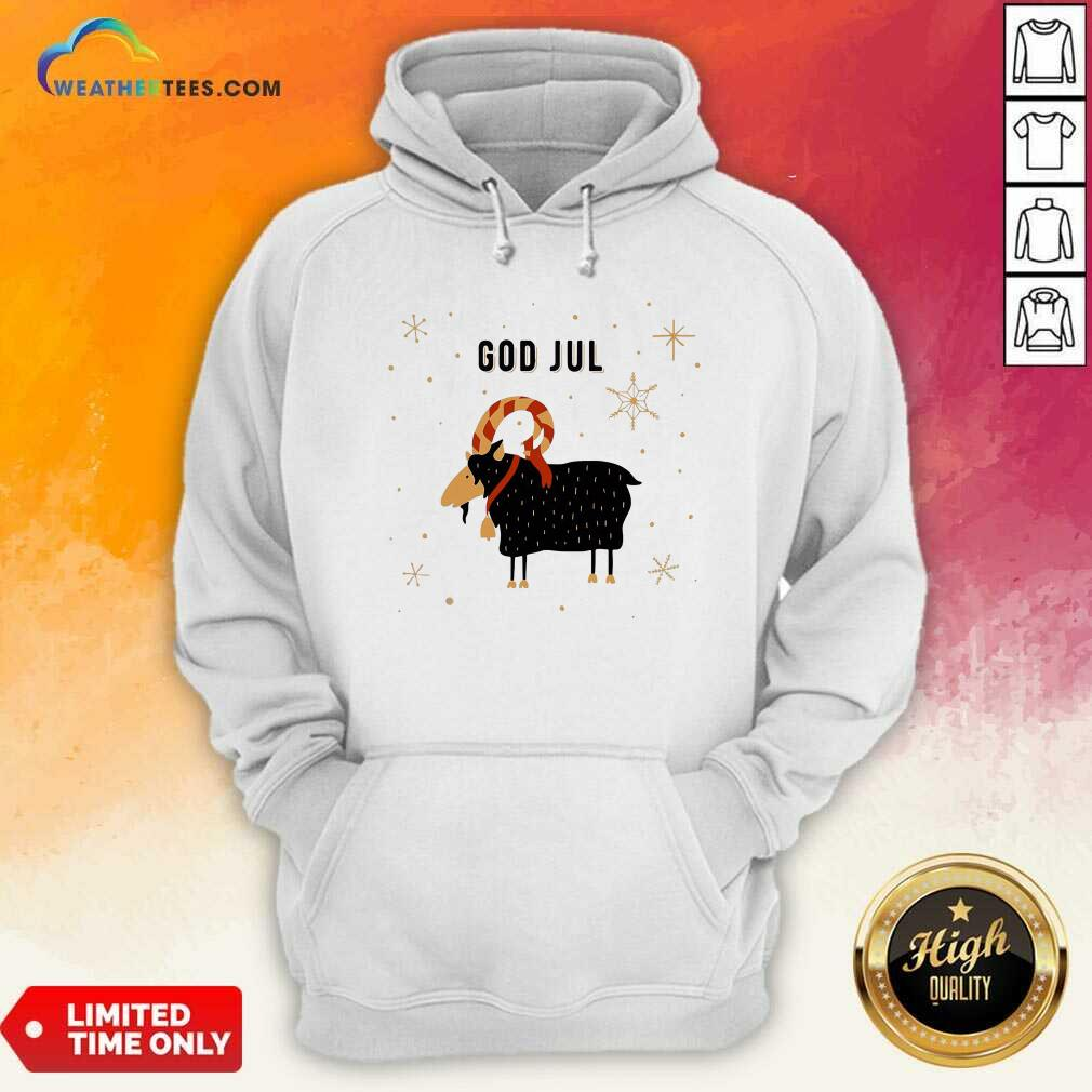God Jul Goat Ugly Christmas Hoodie - Design By Weathertees.com