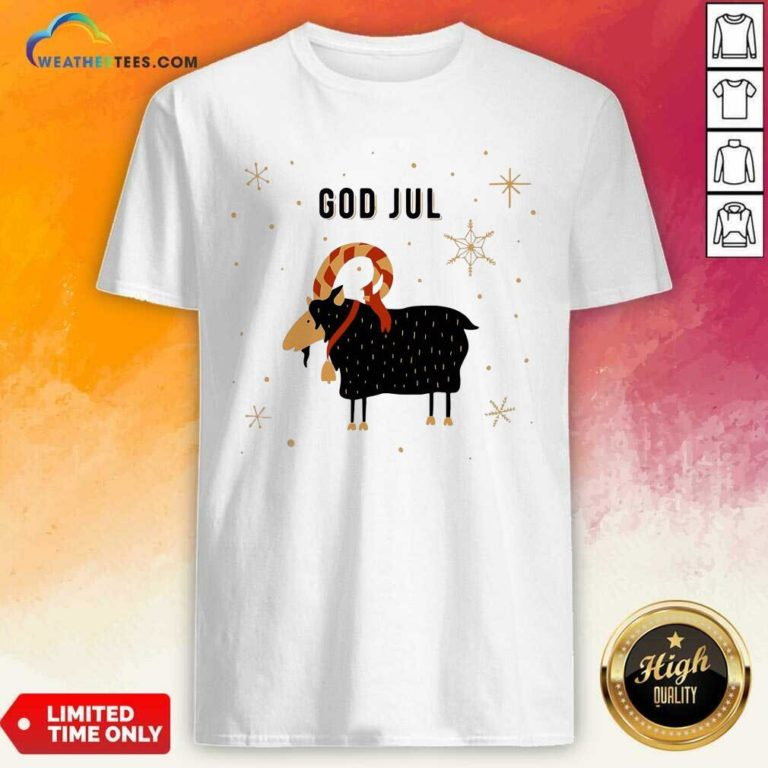 God Jul Goat Ugly Christmas Shirt - Design By Weathertees.com