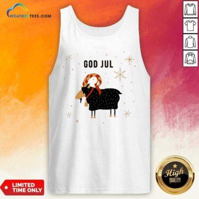 God Jul Goat Ugly Christmas Tank Top - Design By Weathertees.com