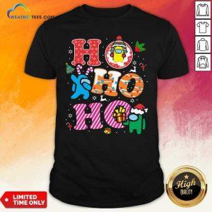 Imposter Among Us Ho Ho Ho Merry Christmas Shirt - Design By Weathertees.com