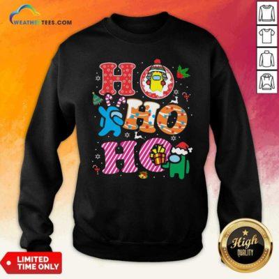 Imposter Among Us Ho Ho Ho Merry Christmas Sweatshirt - Design By Weathertees.com