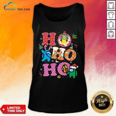 Imposter Among Us Ho Ho Ho Merry Christmas Tank Top - Design By Weathertees.com