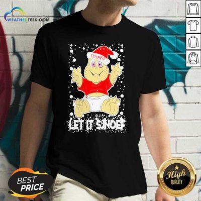 Let It Sjef Mdlz Christmas V-neck - Design By Weathertees.com