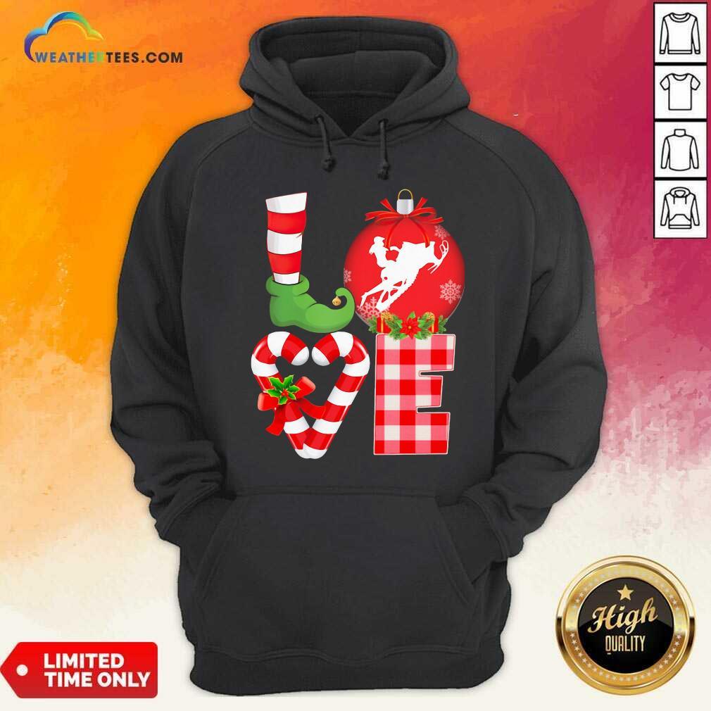 Love Snowboarding Pajama Elf Mery Christmas Hoodie - Design By Weathertees.com