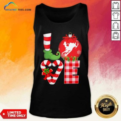 Love Snowboarding Pajama Elf Mery Christmas Tank Top - Design By Weathertees.com